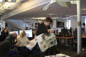 Le rédacteur en chef, François Chrétien, nous explique comment est constitué le journal.